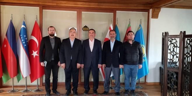 MÜSİAD' tan Türk Dünyası Vakfı Genel Sekreteri Mustafa Fıratlı' ya ziyaret