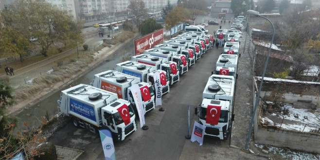 Odunpazarı Belediyesi Çöp Kamyonları Teslim Töreni