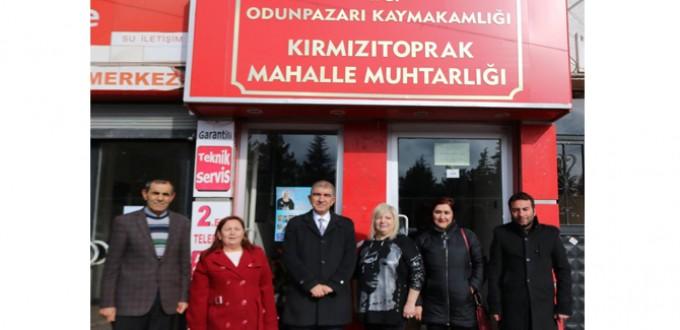 SALİH KARABACAK'TAN KIRMIZI TOPRAK MAHALLESİNE ZİYARET